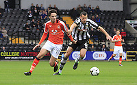 Alex Gilliead of Luton Town gets away from his man during the Sky Bet League 2 match between Notts County and Luton Town at Meadow Lane, Nottingham, England on 29 October 2016. Photo by Liam Smith / PRiME Media