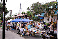 "Monthly street market, the ""Village Stroll"", Kailua-Kona, Big Island, Hawaii RIGHTS MANAGED LICENSE AVAILABLE FROM www.PhotoLibrary.com"