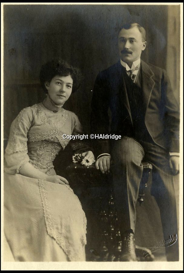 BNPS.co.uk (01202 558833)<br /> Pic: HAldridge/BNPS<br /> <br /> Paul And Rose Danby - Paul was visiting the ship with his uncle Adolf Saalfeld when he wrote the letter.<br /> <br /> The first letter written on the Titanic by an excited visitor before the doomed liner sailed has surfaced 104 years later to reveal the tragic story of the author who was later murdered by the Nazis.<br /> <br /> Paul Danby, a German-born Jew, left the ill-fated ship in Southampton after a quick look round, but not before he took the chance to write a letter home on Titanic-headed notepaper.<br /> <br /> His letter described the levels of opulence on board has survived and is now being sold by auctioneers Henry Aldridge and Son of Wiltshire for £15,000.