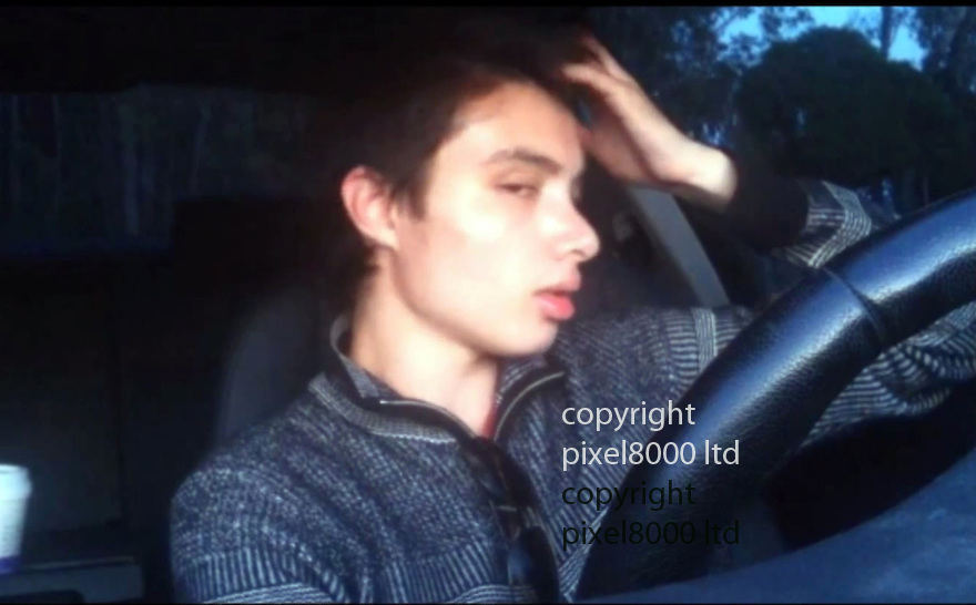Pic shows: Elliot Rodger  - man allegedly involved in drive-by killings in Santa Barbara.<br /> <br /> A video posted online in which he complains about his loneliness and the fact that he has never had sex. He also claims to be beautiful and magnificent<br /> <br /> He recorded the video in his BMW whilst &quot;enjoying a vanilla latte&quot; from Starbuck that made him &quot;feel pumped up.&quot; <br /> A gunman went on a drive-by shooting rampage in a Santa Barbara student enclave and at least seven people were killed, including the attacker, authorities said.<br /> Investigators believe a 22-year-old named Elliot Rodger driving a black BMW acted alone in the shootings around 9:30pm Friday night in Isla Vista near the University of California, Santa Barbara.<br /> Santa Barbara County Sheriff Bill Brown confirmed at a news conference early Saturday that that seven people were killed, including the gunman, and seven wounded.<br /> Rodger was the son of Peter Rodger, assistant director of the Hollywood film franchise The Hunger Games. An attorney for Peter Rodger has confirmed to KCAL that Elliot Rodger was 'involved' in the shooting.<br /> <br /> <br /> <br /> <br /> <br /> <br /> <br /> Picture by Pixel8000 07917221968