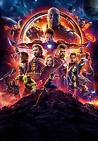 Avengers: Infinity War (2018)<br /> Promotional art with Chris Hemsworth, Dave Bautista, Chris Pratt, Danai Gurira, Letitia Wright, Paul Bettany, Elizabeth Olsen, Anthony Mackie, Chris Evans, Scarlett Johansson, Josh Brolin, Mark Ruffalo, Sebastian Stan, Don Cheadle, Chadwick Boseman, Benedict Cumberbatch, Benedict Wong, Pom Klementieff, Karen Gillan, Zoe Saldana, Robert Downey Jr. &amp; Tom Holland<br /> *Filmstill - Editorial Use Only*<br /> CAP/PLF<br /> Image supplied by Capital Pictures