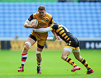 Ian Evans of Bristol Rugby takes on the Wasps defence. Aviva Premiership match, between Wasps and Bristol Rugby on September 18, 2016 at the Ricoh Arena in Coventry, England. Photo by: Patrick Khachfe / JMP