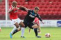 Luke Freeman of Stevenage battle with Adam Chambers of Walsall<br />  - Walsall v Stevenage - Sky Bet League One - Banks's Stadium, Walsall - 19th October 2013. <br /> © Kevin Coleman 2013