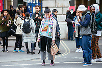 Susie Bubble at London Fashion Week (Photo by Hunter Abrams/Guest of a Guest)