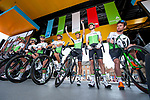 Mark Cavendish (GBR) and Team Dimension Data at sign on before the start of Stage 1 of the Tour de Yorkshire 2018 running 182km from Beverley to Doncaster, England. 3rd May 2018.<br /> Picture: ASO/Alex Broadway | Cyclefile<br /> <br /> <br /> All photos usage must carry mandatory copyright credit (&copy; Cyclefile | ASO/Alex Broadway)