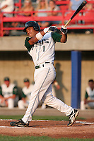 Southwest Michigan Devil Rays Cesar Suarez during a Midwest League game at C.O. Brown Stadium on July 14, 2006 in Battle Creek, Michigan.  (Mike Janes/Four Seam Images)
