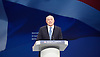 Conservative Party Conference <br /> Manchester, Great Britain <br /> Day 3<br /> 6th October 2015 <br /> <br /> Iain Duncan Smith <br /> speech <br /> <br /> <br /> <br /> Photograph by Elliott Franks <br /> Image licensed to Elliott Franks Photography Services