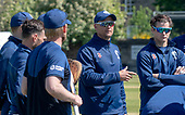 Issued by Cricket Scotland - Scotland National Head Coach Shane Burger leads practice ahead of tomorrow's (sat) Scotland V Sri Lanka 1st One Day International at Grange CC, Edinburgh - picture by Donald MacLeod - 17.05.19 - 07702 319 738 - clanmacleod@btinternet.com - www.donald-macleod.com