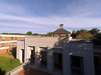 An aerial view of the University of Virginia School of Law located in Charlottesville, VA. Photo/Andrew Shurtleff