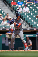 Lehigh Valley IronPigs Lane Adams (9) at bat during an International League game against the Buffalo Bisons on June 9, 2019 at Sahlen Field in Buffalo, New York.  Lehigh Valley defeated Buffalo 7-6 in 11 innings.  (Mike Janes/Four Seam Images)