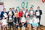Students of St Itas and St Josephs who graduated on FRiday and were presented with their graduation certificates from Capt of Kerry Football Team Kieran Donaghy with the student on the day were Grace Sheehan (principal) and Ann Galvin (Teacher).