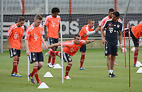 FUSSBALL  1. BUNDESLIGA   SAISON  2012/2013   Trainingsauftakt beim FC Bayern Muenchen 03.07.2012 Xherdan Shaqiri (Mitte, FC Bayern Muenchen)