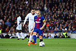 UEFA Champions League 2017/2018.<br /> Round of 16 2nd leg.<br /> FC Barcelona vs Chelsea FC: 3-0.<br /> Eden Hazard vs Andres Iniesta.