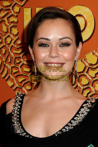 ALEXIS DZIENA.HBO's 2010 67th Golden Globe Awards Post Party held at the Beverly Hilton Hotel, Beverly Hills, California, USA. .January 17th, 2009 .globes headshot portrait dangling earrings black silver .CAP/ADM/BP.©Byron Purvis/Admedia/Capital Pictures