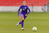 Bridgeview, IL, USA - Sunday, May 1, 2016: Orlando Pride defender Monica Hickman Alves (21) during a regular season National Women's Soccer League match between the Chicago Red Stars and the Orlando Pride at Toyota Park. Chicago won 1-0.