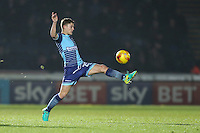 Dominic Gape of Wycombe Wanderers during the Sky Bet League 2 match between Wycombe Wanderers and Leyton Orient at Adams Park, High Wycombe, England on 17 December 2016. Photo by David Horn / PRiME Media Images.