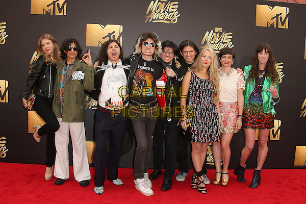 09 April 2016 - Burbank, California - Crystal Moselle and 'The Wolfpack' Angulo Brothers. 2016 MTV Movie Awards held at Warner Bros. Studios. <br /> CAP/ADM/SAM<br /> &copy;SAM/ADM/Capital Pictures