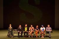 S&Atilde;O PAULO,SP, 09-09-2013, TEATRO BRADESCO - COLETIVA DE IMPRENSA SHREK<br /> <br /> O ator Rodrigo Sant'anna do elenco Shrek na coletiva de imprensa realizada no Teatro Bradesco em S&atilde;o Paulo, nesta segunda-feira dia 09 de setembro de 2013 (Foto: Flavio Hopp / Brazil Photo Press).