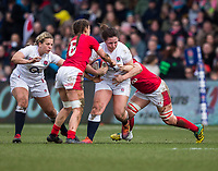 England Women's Amy Cokayne in action during todays match<br /> <br /> Photographer Bob Bradford/CameraSport<br /> <br /> 2020 Women's Six Nations Championship - England v Wales - Saturday 7th March 2020 - The Stoop - London<br /> <br /> World Copyright © 2020 CameraSport. All rights reserved. 43 Linden Ave. Countesthorpe. Leicester. England. LE8 5PG - Tel: +44 (0) 116 277 4147 - admin@camerasport.com - www.camerasport.com