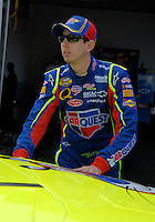 Feb 10, 2007; Daytona, FL, USA; Nascar Nextel Cup driver Kyle Busch (5) during practice for the Daytona 500 at Daytona International Speedway. Mandatory Credit: Mark J. Rebilas