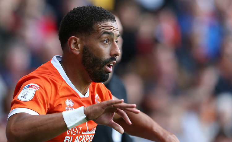 Blackpool's Liam Feeney<br /> <br /> Photographer Stephen White/CameraSport<br /> <br /> The EFL Sky Bet League One - Blackpool v Portsmouth - Saturday 31st August 2019 - Bloomfield Road - Blackpool<br /> <br /> World Copyright © 2019 CameraSport. All rights reserved. 43 Linden Ave. Countesthorpe. Leicester. England. LE8 5PG - Tel: +44 (0) 116 277 4147 - admin@camerasport.com - www.camerasport.com