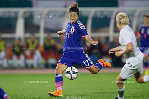 Yuki Ogimi (JPN), <br /> MAY 24, 2015 - Football / Soccer : MS&amp;AD Nadeshiko Cup 2015 match between Womens Japan and Womens New Zealand at Marugame stadium, Kagawa, Japan. (Photo by AFLO)