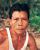 PANAMA, Bocas del Toro, Salt Creek, portrait of a Guaymi Indian man, Central America