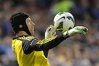 Petr Cech Chelsea goalkeeper.Manchester City defeated Chelsea 4-3 in an international friendly at Busch Stadium, St Louis, Missouri.