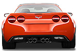 Straight rear view of a 2011 Chevrolet Corvette Z06