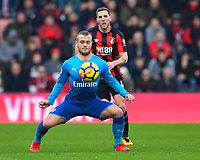 Jack Wilshere of Arsenal shields the ball from Dan Gosling of AFC Bournemouth during AFC Bournemouth vs Arsenal, Premier League Football at the Vitality Stadium on 14th January 2018