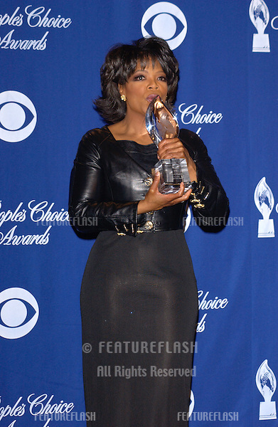 OPRAH WINFREY at the 30th Annual People's Choice Awards in Pasadena, CA..January 11, 2004