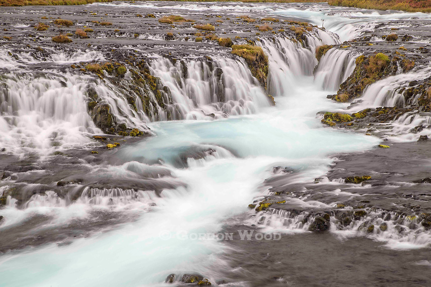 Bruarfoss Waterfall. This one is not on the usual tourist radar, but is mentioned in photography guides. It is tricky to find, and I found myself following a bunch of other people in the rain, following their phones on Google Maps to find it. Extremely slippery mud paths to get to it, so nobody got out intact without muddy boots, pants and tripods.