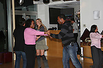 Lawrence Saint-Victor has fun dancing - Guiding Light's actors at a private dinner on top of Mount Washington, near Pittsburgh, PA on the night before October 1, 2009 in the Pittsburgh, PA area as the actors GO PINK with Panera Bread as they visit many of the Panera Bread locations the next day. Proceeds from pink ribbon bagel sales will benefit the Young Women's Breast Cancer Awareness Foundation. (Photo by Sue Coflin/Max Photos)