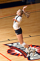 SAN ANTONIO, TX - SEPTEMBER 30, 2008: The Prairie View A&M University Panthers vs. The University of Texas at San Antonio Roadrunners Volleyball at the UTSA Convocation Center. (Photo by Jeff Huehn)