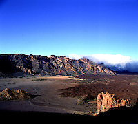 Mountains and lava fields. Parque nacional Cañadas,Tenerife,Canary Islands,Spain