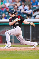 June 4, 2009:  Chris Denorfia of the Sacramento River Cats, Pacific Cost League Triple A affiliate of the Oakland Athletics, during a game at the Spring Mobile Ballpark in Salt Lake City, UT.  Photo by:  Matthew Sauk/Four Seam Images