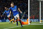 24.11.2018 Rangers v Livingston: Scott Arfield celebrates after getting goal no 3 for Rangers