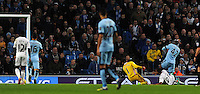 Picture: Andrew Roe/AHPIX LTD, Football, Barclays Premier League, Manchester City v Swansea City, 22/11/14, Etihad Stadium, K.O 3pm<br /> <br /> City's Yaya Toure slots the ball into the net past Swansea's keeper Lukas Fabianski<br /> <br /> Andrew Roe>>>>>>>07826527594