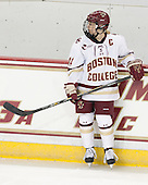 Emily Pfalzer (BC - 14) -  The Boston College Eagles defeated the visiting Boston University Terriers 5-0 on BC's senior night on Thursday, February 19, 2015, at Kelley Rink in Conte Forum in Chestnut Hill, Massachusetts.