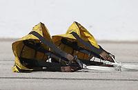 Apr. 28, 2013; Baytown, TX, USA: Detailed view of the spring loaded pilot parachutes of an NHRA racer the Spring Nationals at Royal Purple Raceway. Mandatory Credit: Mark J. Rebilas-