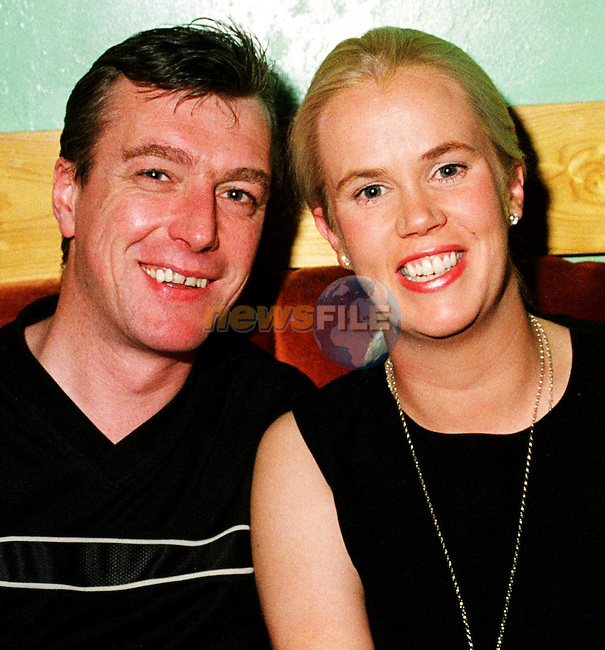 Derek Grimes, Meadowgrove and Paddi McKevitt, Dublin Road at Ray Brennan's surprise 40th birthday  party in the AOH.