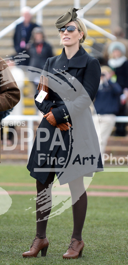 Zara Phillips in the Parade Ring at  the Cheltenham Festival, Thursday, 14th  March 2013.  Photo by: Stephen Lock / Stephen Lock / i-Images / DyD Fotografos