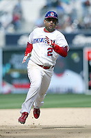 Placido Polanco of the Dominican Republic during semi final game against Cuba during the World Baseball Championships at Petco Park in San Diego,California on March 18, 2006. Photo by Larry Goren/Four Seam Images