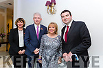 Michele King, Mark Sullivan and Eibhlín Henggeler with Minister Brendan Griffin at the Fine Gael celebration in honour of Jimmy Deenihan in The Rose Hotel on Friday
