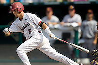 South Carolina's Whit Merrifield in Game 7 of the NCAA Division One Men's College World Series on Monday June 22nd, 2010 at Johnny Rosenblatt Stadium in Omaha, Nebraska.  (Photo by Andrew Woolley / Four Seam Images)