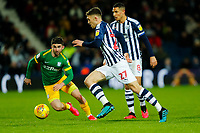 25th February 2020; The Hawthorns, West Bromwich, West Midlands, England; English Championship Football, West Bromwich Albion versus Preston North End; Dara O'Shea of West Bromwich Albion looks to beat Sean Maguire of Preston North End