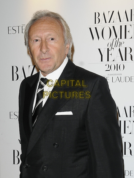 HAROLD TILLMAN.Harper's Bazaar Women of the Year Awards at One Mayfair, London, England, UK..November 1st 2010.half length black suit.CAP/CAN.©Can Nguyen/Capital Pictures.