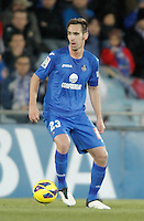 Getafe's Borja Fernandez during La Liga match. February 01, 2013. (ALTERPHOTOS/Alvaro Hernandez) /NortePhoto