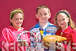 2774-2778.Dawn Derohanwillmer, Kevin Brennan and Francy Derohanwillmer, Caherciveen, enjoying the World Bodhran Championships in Milltown on Sunday..