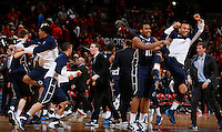 Penn State celebrates overtime win over OSU at Value City Arena in Columbus Jan. 29, 2013. (Dispatch photo by Eric Albrecht)